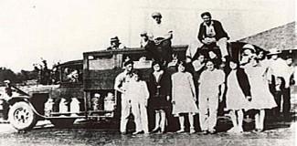 Martin's Milk Truck and School Bus, Wooster Arkansas, Faulkner County Historical Society