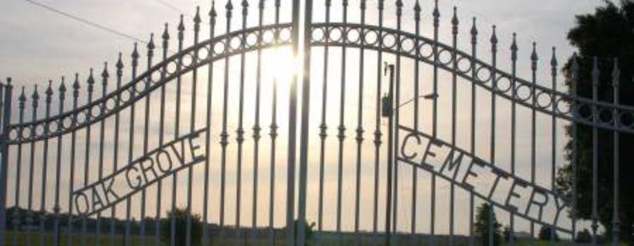 """Gone But Not Forgotten"" at Oak Grove Cemetery"