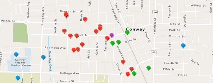 Self-Guided Tour of Conway's Robinson Historic District